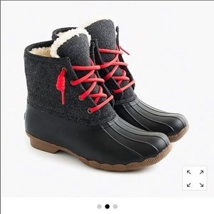 Sperry for J. Crew Flannel Duck Boots